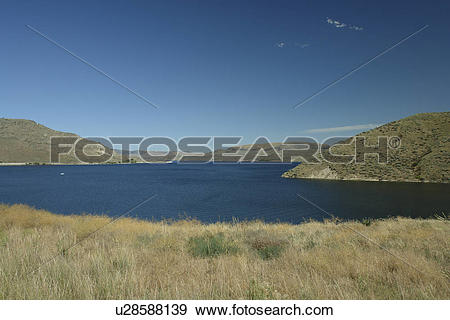 Stock Photograph of Coulee Dam, WA, Washington, Grand Coulee Dam.
