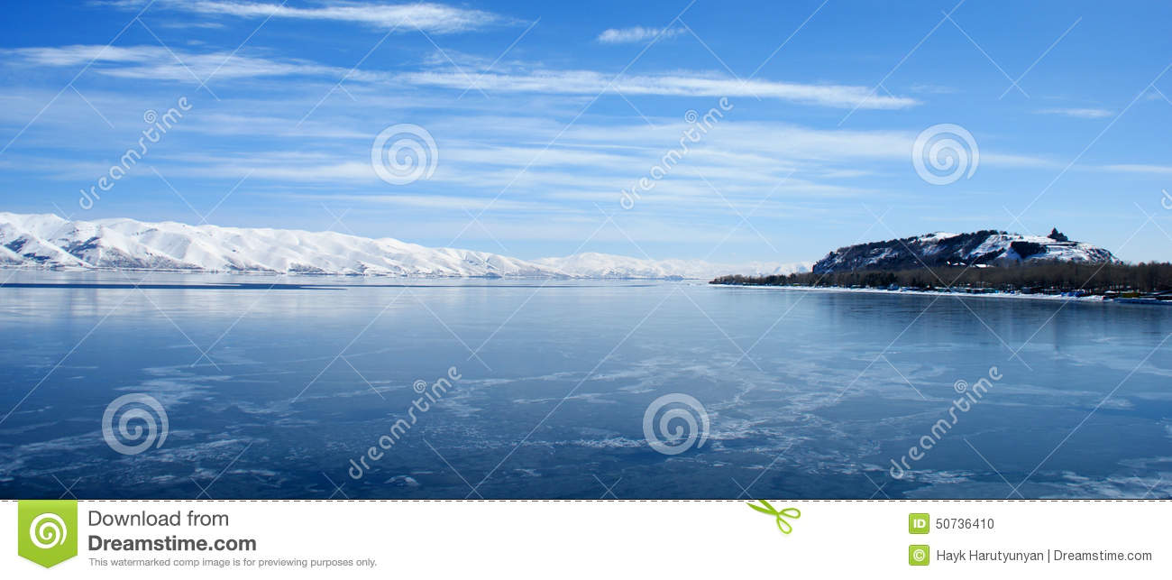 Lake Sevan, Armenia Stock Photo.