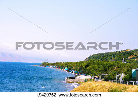 Stock Photo of Sevan lake k9429752.