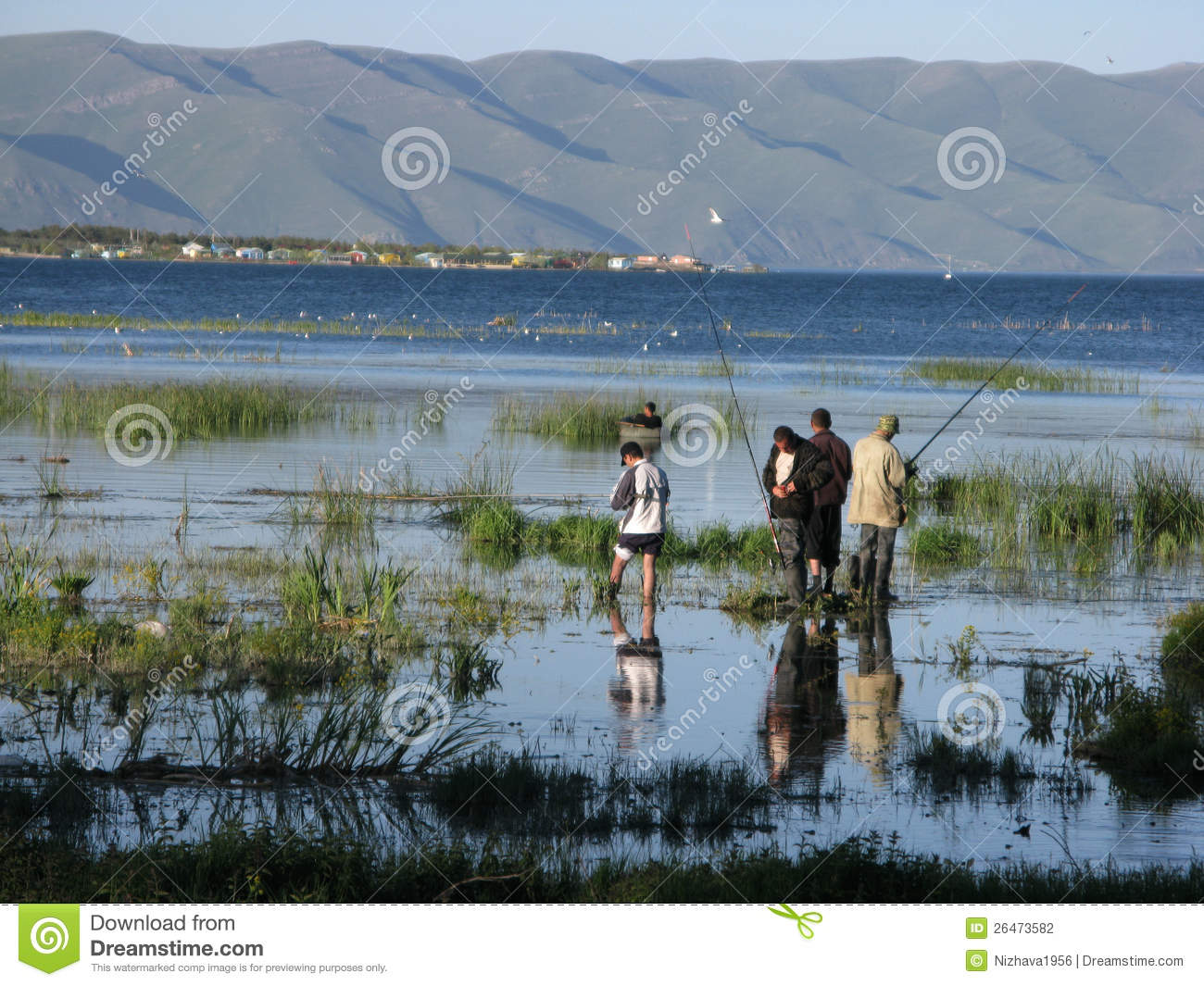 Fishing On Lake Sevan Editorial Photography.