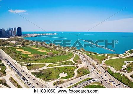 Stock Photography of Columbus and Lake Shore Drive k11831060.