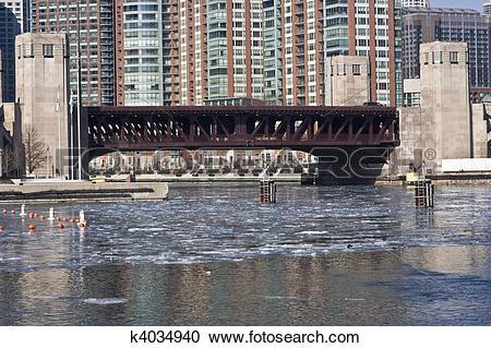 Stock Photography of Lake Shore Drive Bridge k4034940.