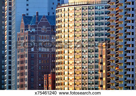 Stock Photography of North Lake Shore Drive Reflections x75461240.