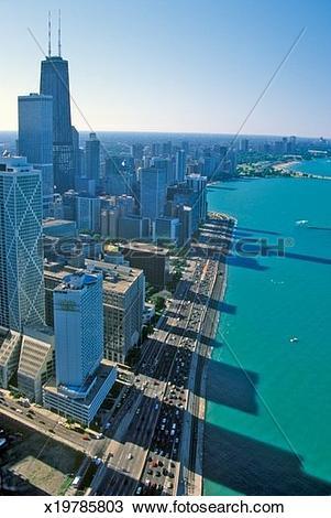 Stock Photo of 'Lake Shore Drive, Chicago Illinois' x19785803.