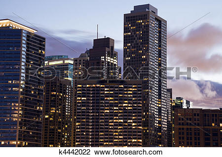 Stock Photo of Apartment buildings along Lake Shore Drive k4442022.