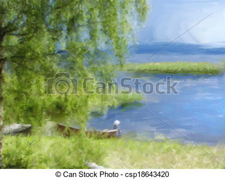 Lakeside Illustrations and Stock Art. 184 Lakeside illustration.