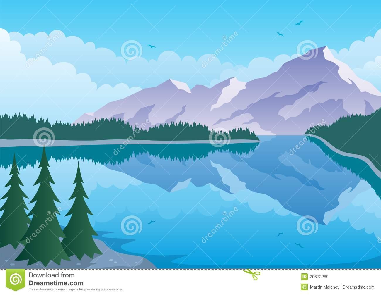 Lakeside Stock Illustrations.