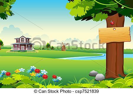EPS Vectors Of Farm House