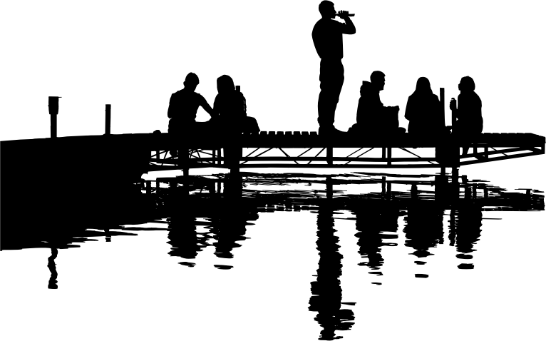 Clipart lake silhouette, Clipart lake silhouette Transparent.