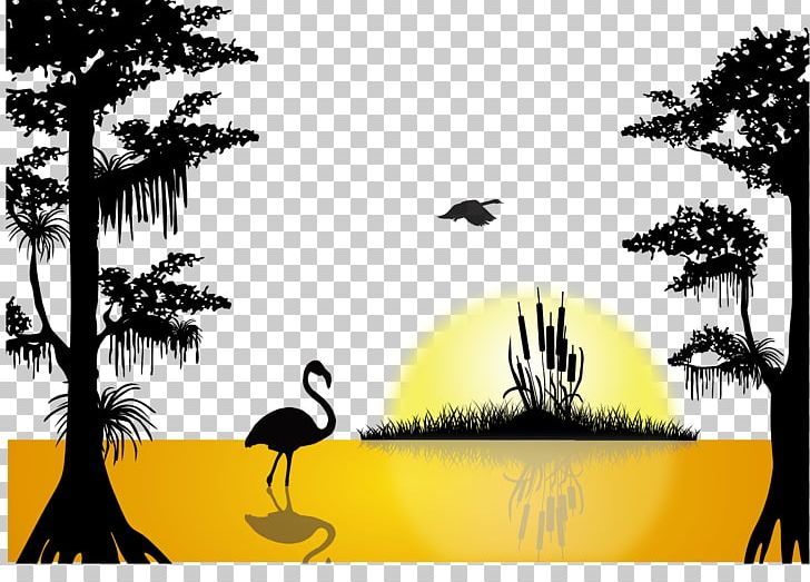 Sunset Lake Silhouette PNG, Clipart, Afterglow, Art, Black.