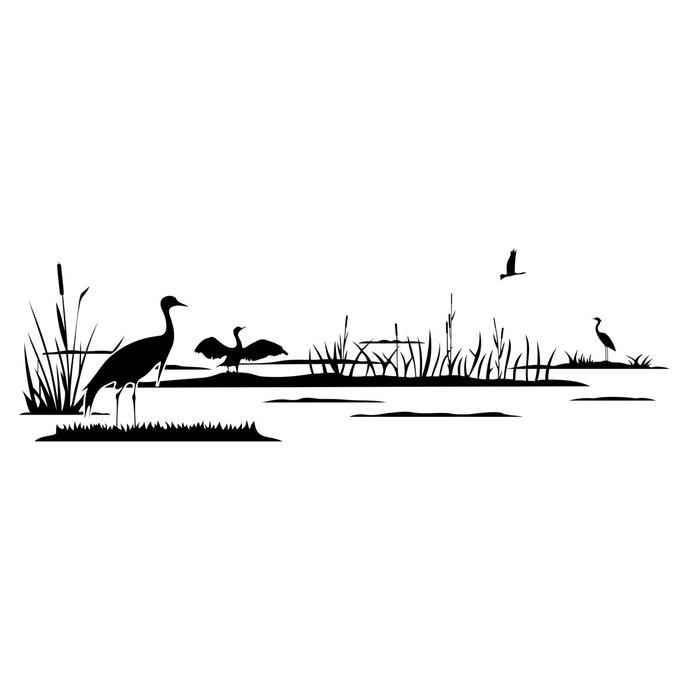 Lake Reed Bird graphics design SVG DXF EPS Png Cdr Ai Pdf Vector Art  Clipart instant download Digital Cut Print Files Shirt Vinyl Decal.
