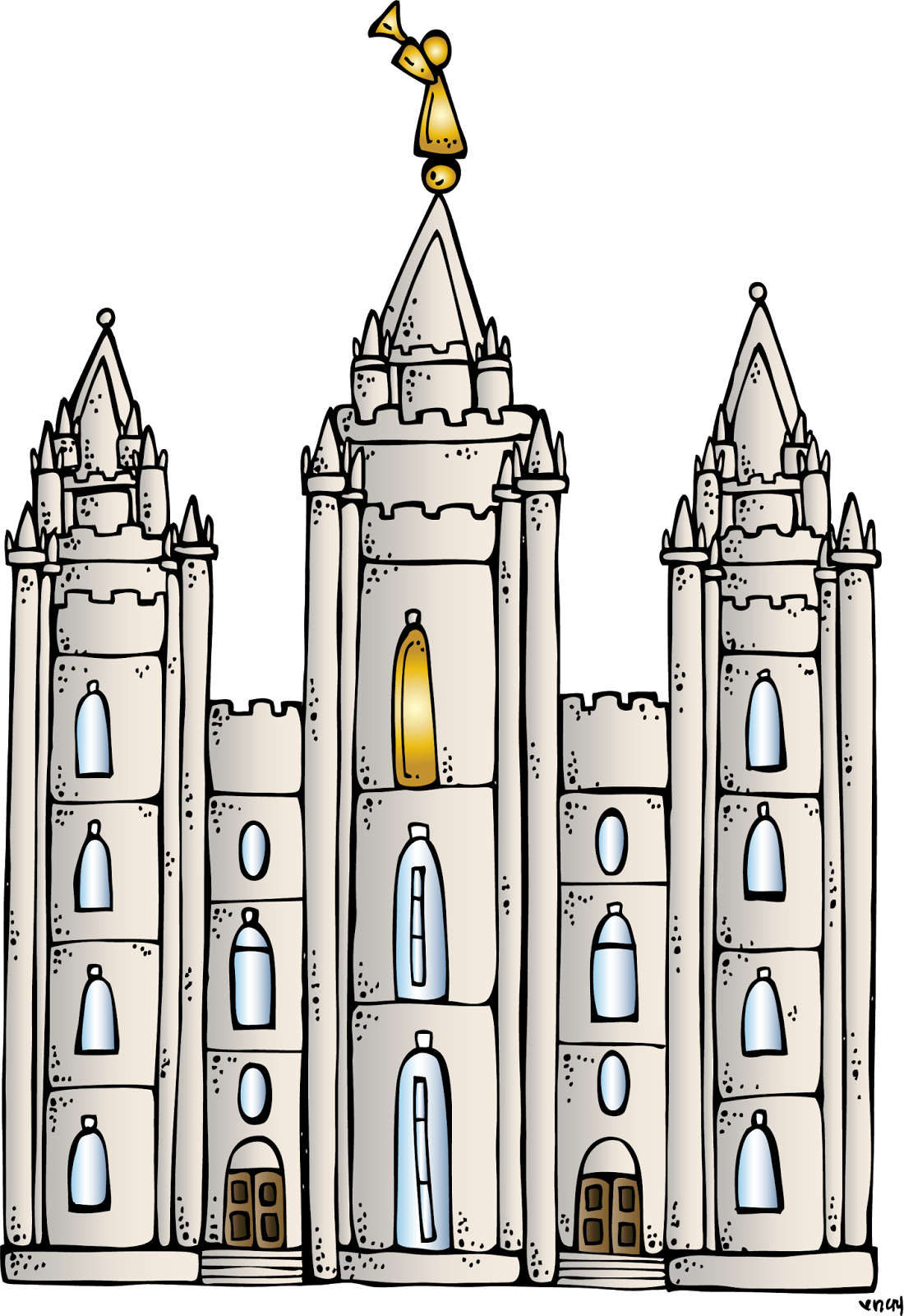 Salt Lake Temple Clipart.