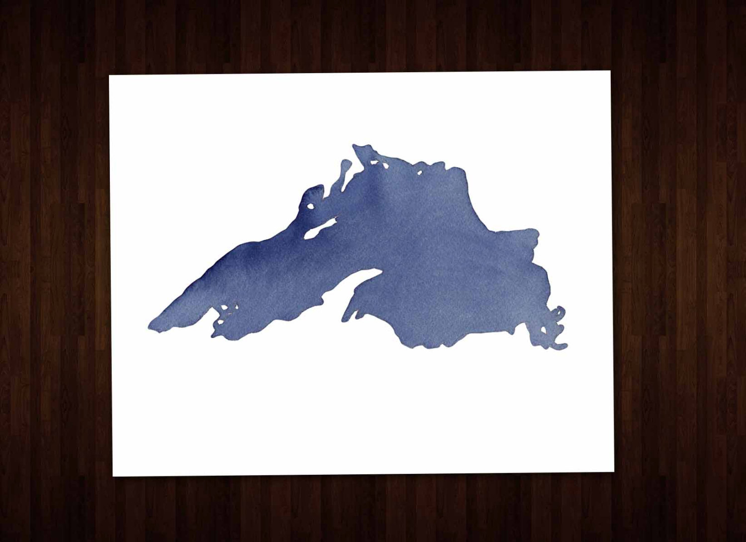Lake Superior Map Clipart.