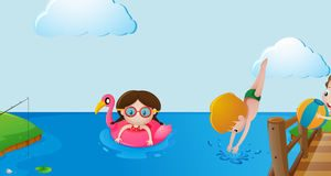 Lake swimming clipart 4 » Clipart Station.