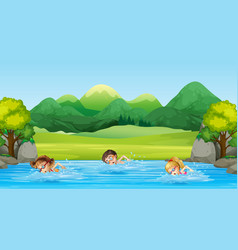 Children Swimming Clipart Vector Images (over 150).