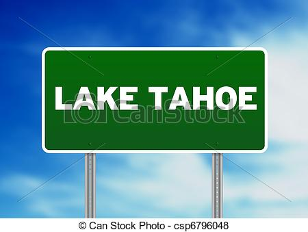 Pictures of Lake Tahoe Highway Sign.