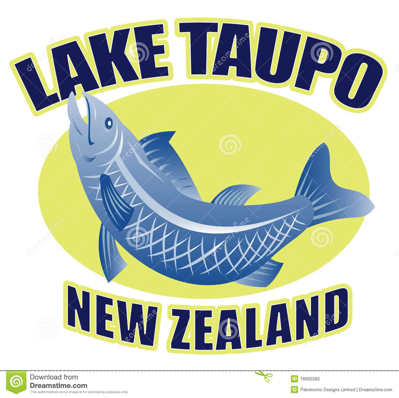 Trout Fish Lake Taupo New Zealand Royalty Free Stock Photo.