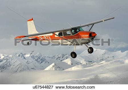 Picture of Cessna 180 near Lake Tekapo, New Zealand u67544827.