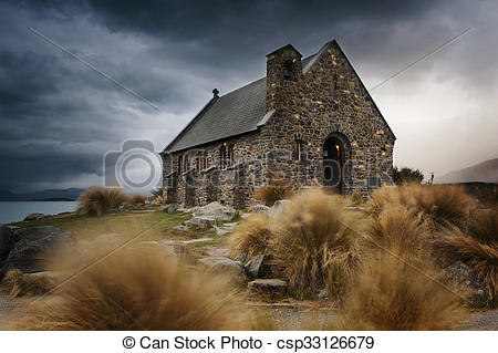 Picture of Church of Good Shepherd, Lake Tekapo, New Zealand.