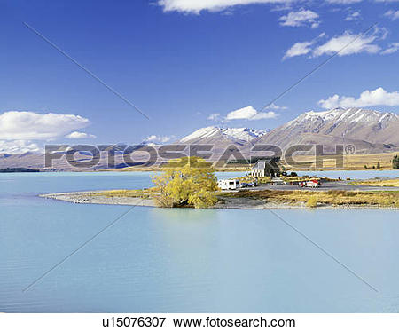 Picture of Lake Tekapo, South Island, New Zealand u15076307.