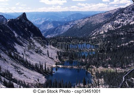 Stock Photography of Terrace Lakes.