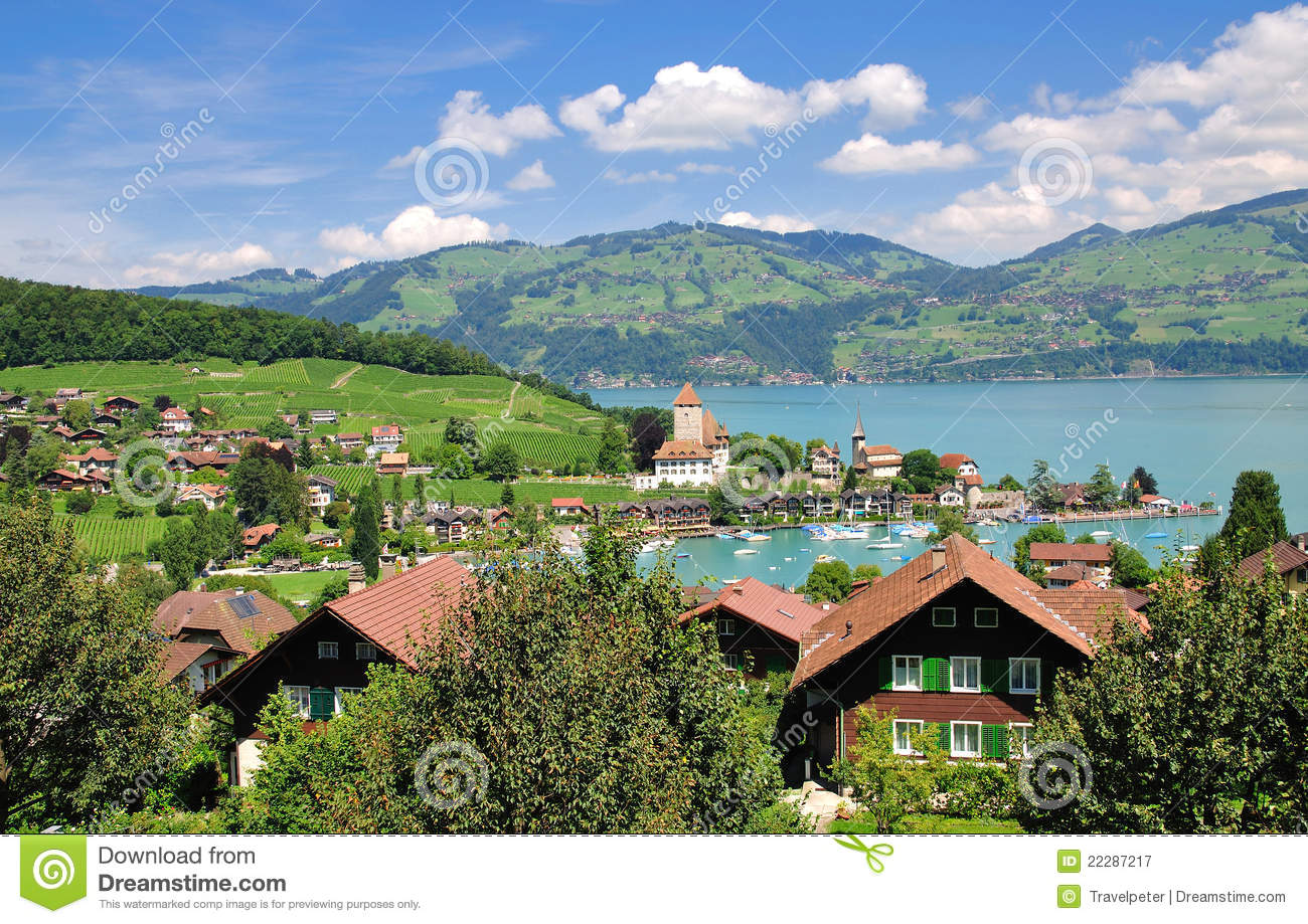 Spiez,lake Thun Royalty Free Stock Photography.