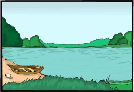 Lake View Clip Art.