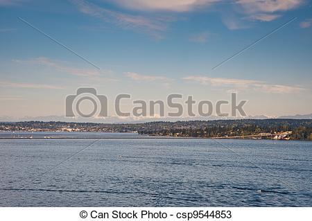 Stock Photos of Lake Washington.