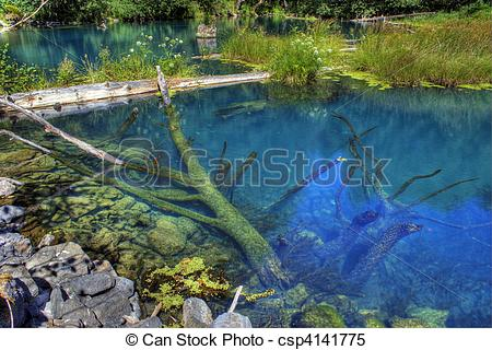 Stock Images of Blue Lake located just west of Stevenson.