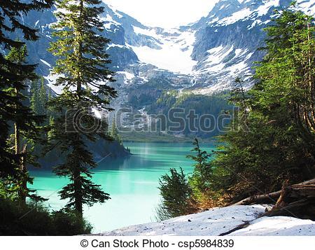 Stock Photographs of Blanca Lake, Washington State.