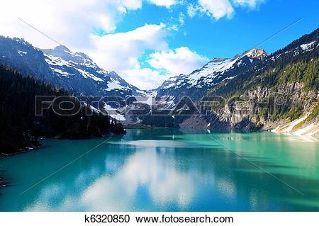 Stock Photography of Blanca Lake, Washington State k6320850.
