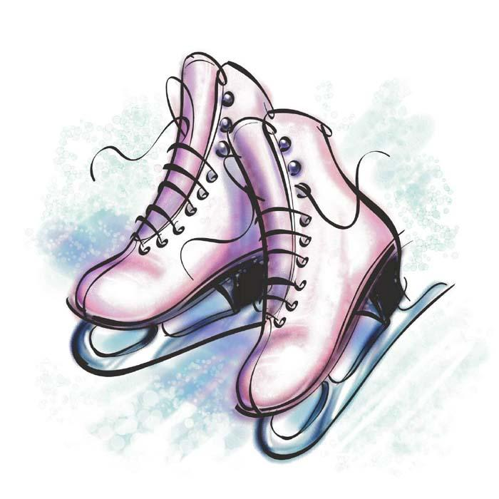 ice skating drawings.