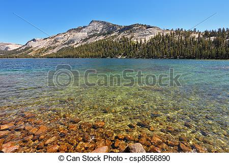 Stock Photography of Magnificent huge lake in Yellowstone.