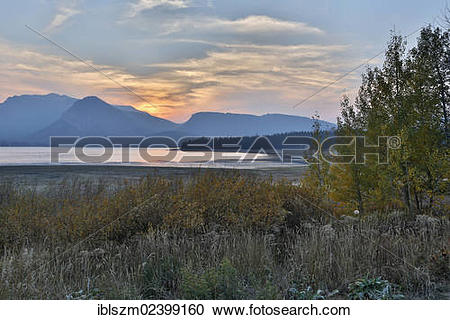 """Stock Photography of """"Evening at Lewis Lake, Yellowstone National."""