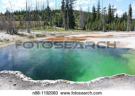 Stock Photo of Hot Spring, West Thumb Geyser Basin, Yellowstone.