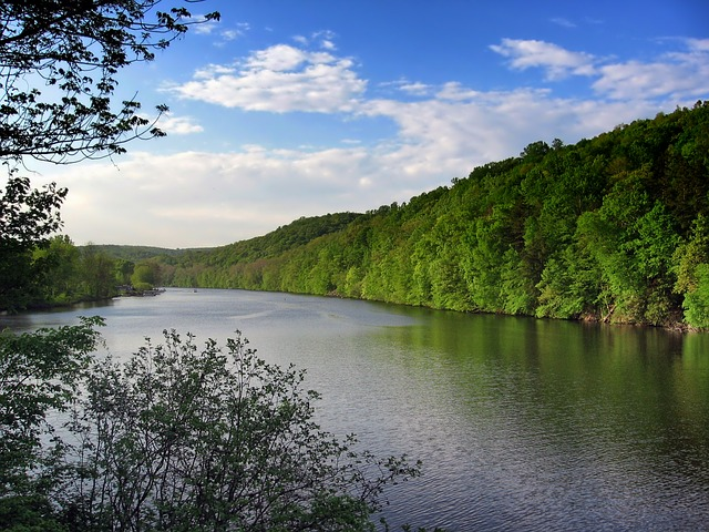 LAKE ZOAR, CONNECTICUT, LANDSCAPE, SCENIC, FOREST.