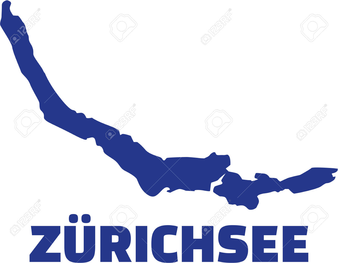 Lake Zurich Silhouette With Name Royalty Free Cliparts, Vectors.