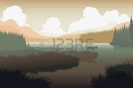 178 Lakefront Stock Illustrations, Cliparts And Royalty Free.