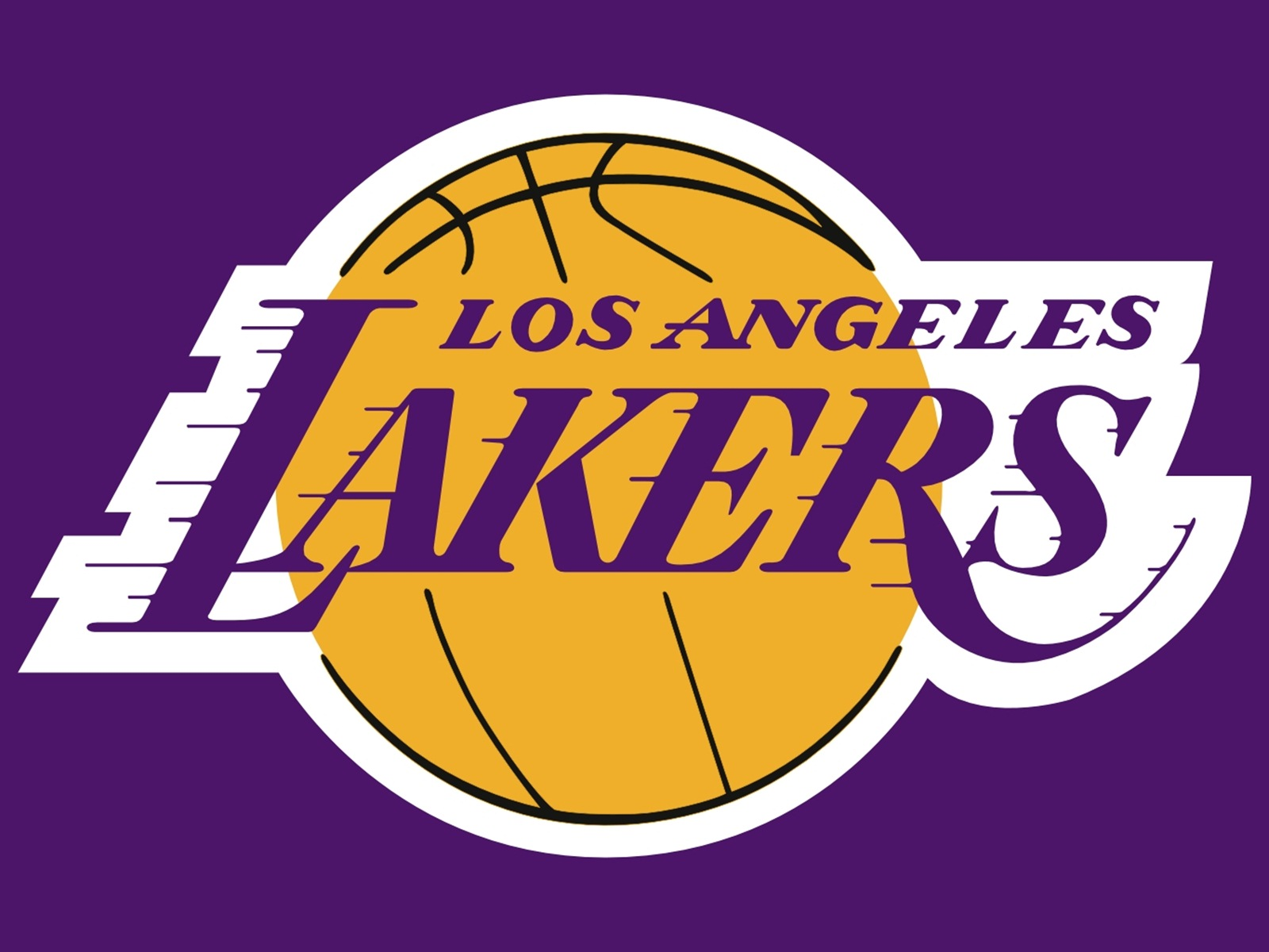 The Los Angeles Lakers logo without eyebrows : lakers.