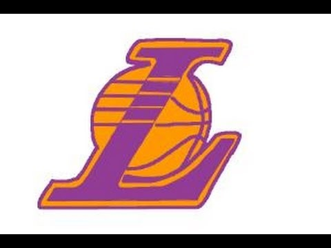How to draw Lakers logo.
