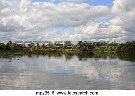 Stock Images of Lakescape at Selous Game Reserve, Tanzania mpz3516.