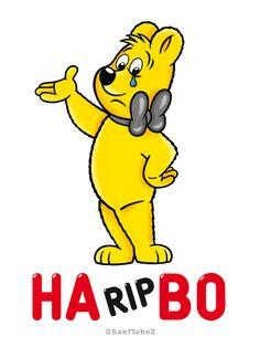 Haribo Bear Cartoon Character Vector Logo.