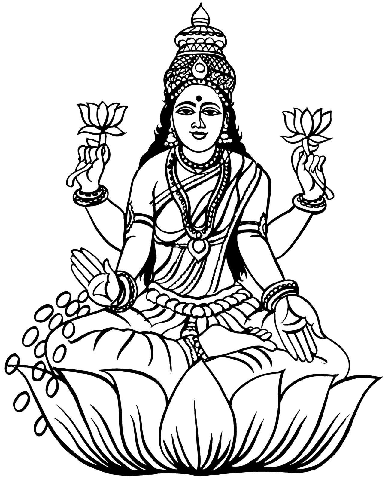 Lakshmi Devi Clipart.
