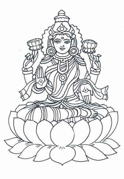 Goddess Laxmi Clipart Hd.