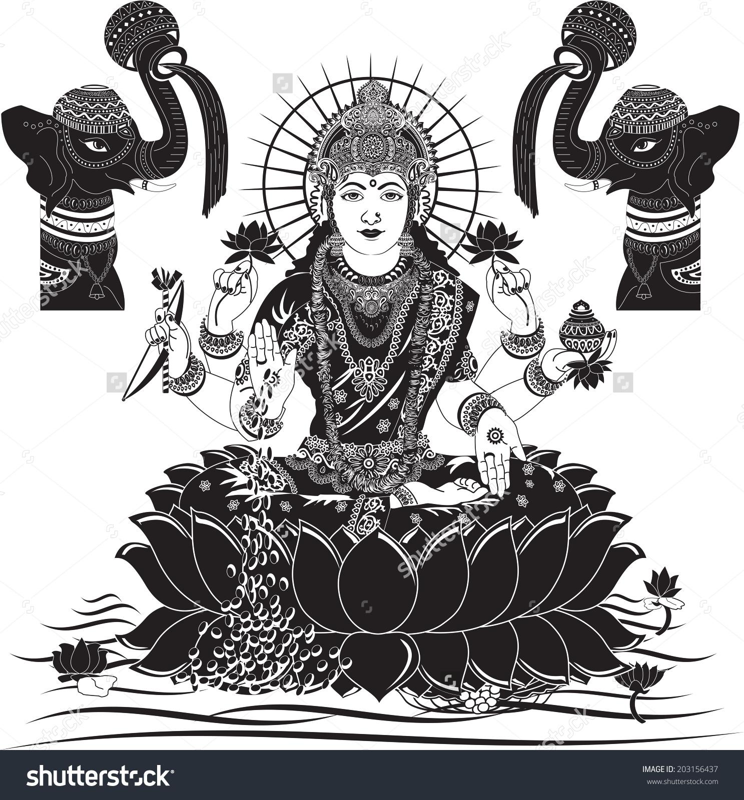 Goddess mahalakshmi clipart.