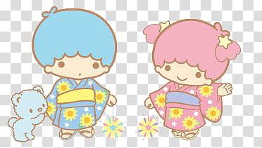 Little Twin Stars Render , Kiki and Lala illustration.