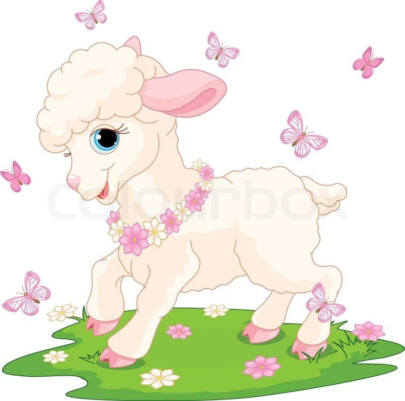 Lamb Spring Clipart.