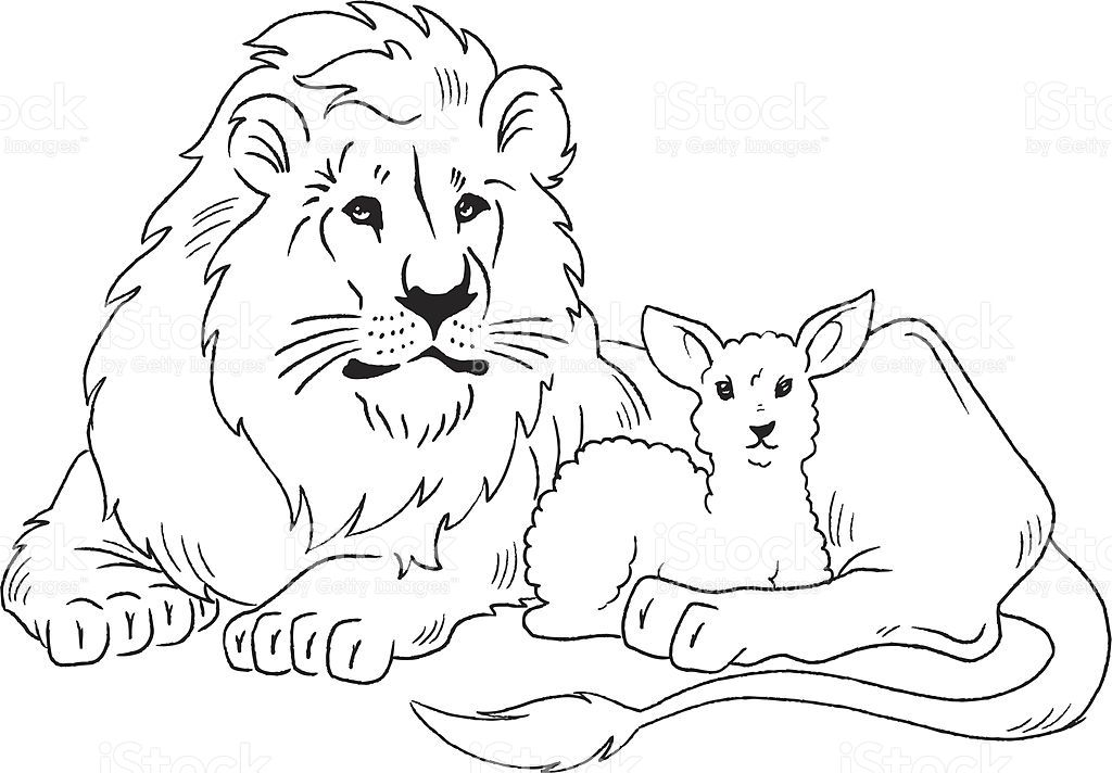 Lion Laying Down Clip Art.