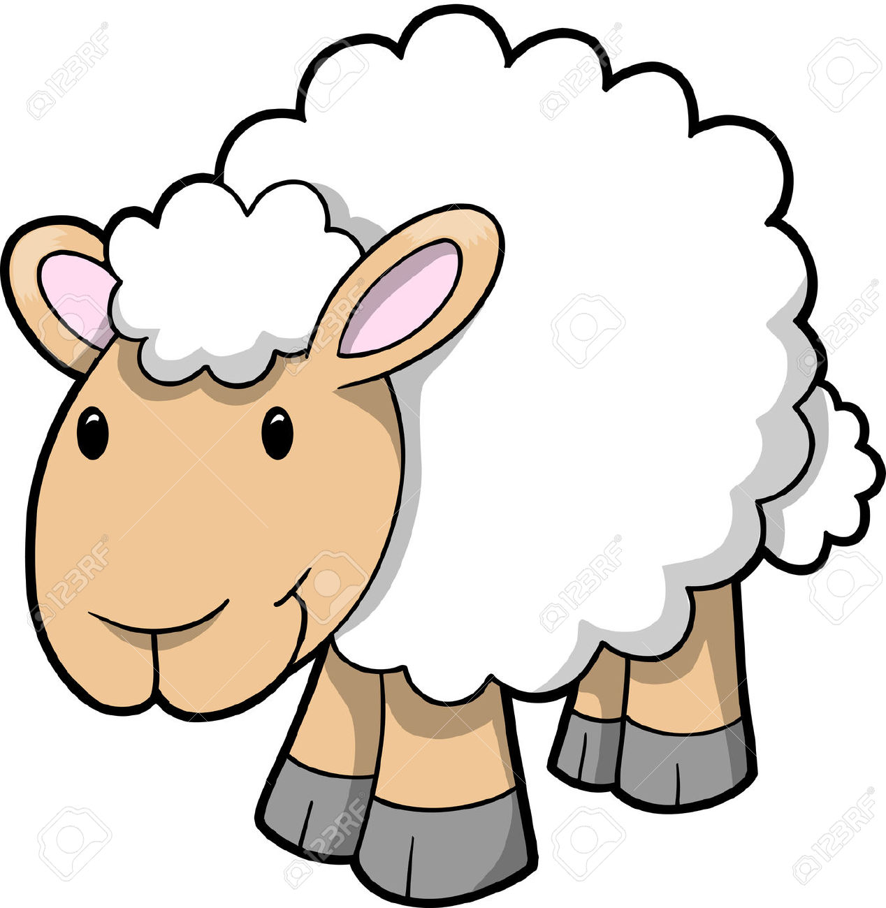 clipart image of sheep #16