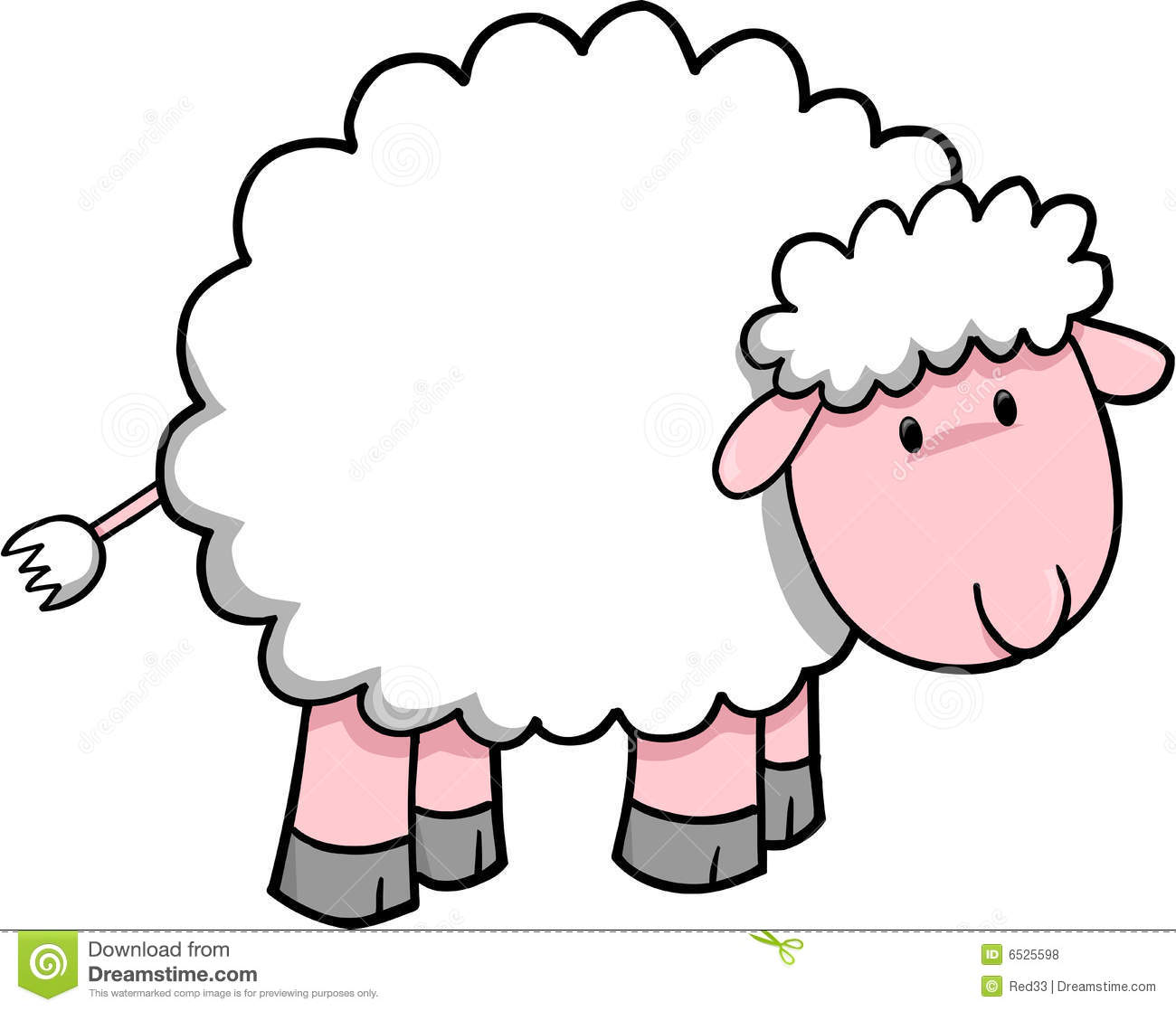 Cute Baby Lamb Clipart.